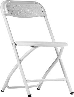 ZOWN Pack 4 sillas Plegables Big Alex Polipropileno, Blanco, L50.9 x W50.3 x H80.6 cm
