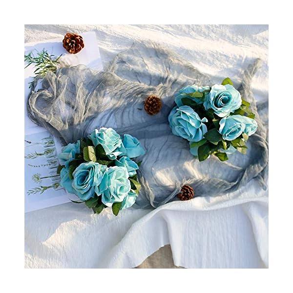 Ksnnrsng Guirnalda Rosas de Seda Artificiales Flores Vides Flores Falsas Colgando Plantas Hiedra Rosa para Colgar en…