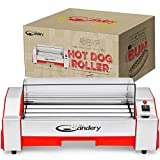 The Candery Upgraded Hot Dog Roller - Sausage Grill Cooker Machine - 6...
