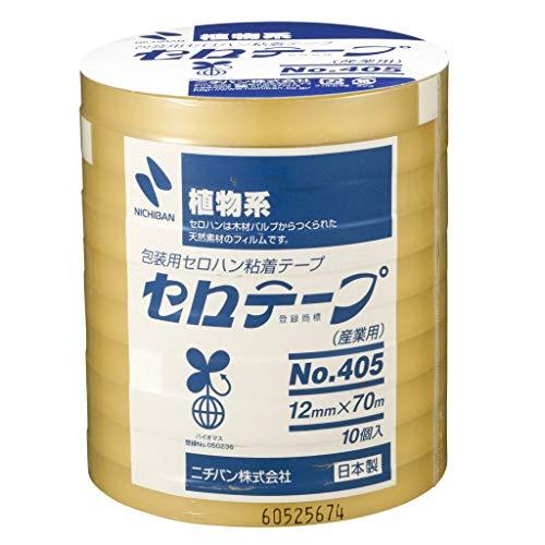 ニチバン セロテープ 大巻 12mm幅 70m巻 10巻入 405-12×70