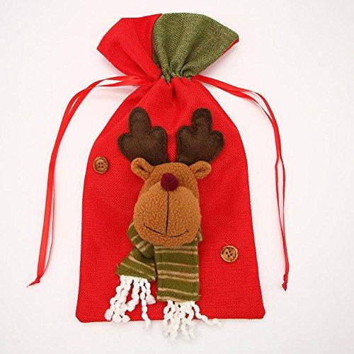 Zay Luay Inicio Bolsa Candy Fit Fit Fiesta de Boda Navidad Stocking Decoración Apple Bolsa de Caramelo (Color : 1)