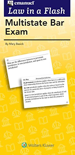 Multistate Bar Exam Flash Cards (Law in a Flash)