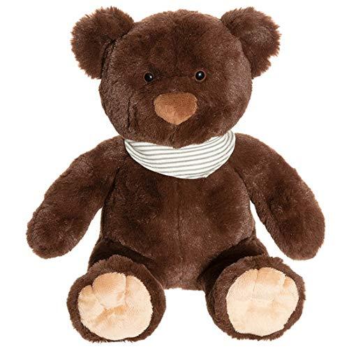"""Teddykompaniet 2857 Teddybär """"Malte"""" Dunkelbraun, 35 cm – Plüschtier Kuscheltier für Babys - Stofftier Eco-Friendly - super Soft Oeko-Tex - ab Geburt"""