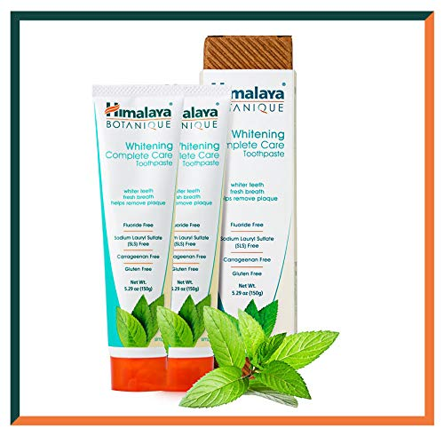 Himalaya Botanique Whitening Toothpastes 150g (Simply Mint, 2-Pack)
