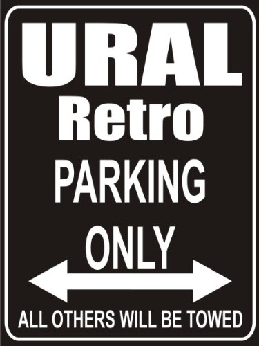 INDIGOS UG - Parkplatz - Parking Only ural-retro - Parkplatzschild