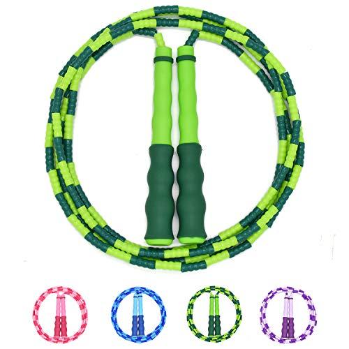 Suweir Springseil Kinder, Springseil Speed Rope für Kinder,Männer und Frauen, Verstellbares weiches Perlen-Springseil,Fitness Springseil für das leichte Training, Gewichtsabnahme, Ausdauertraining
