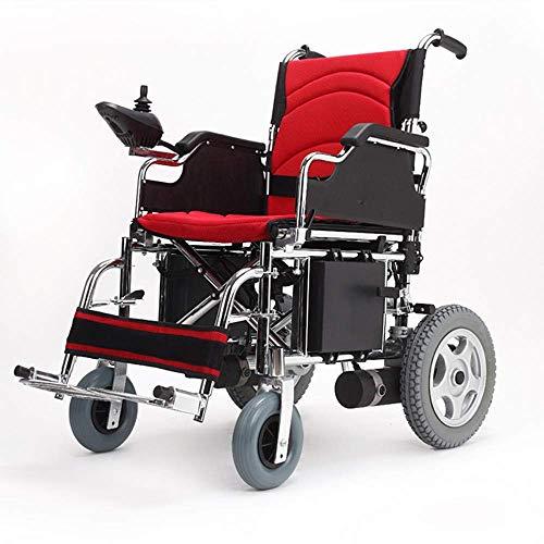 Y-L gemotoriseerde rolstoelen voor ouderen, inklapbare gemotoriseerde rolstoelen - elektrische rolstoel lichtste inklapbaar vliegtuig en klaar Cruise, blauw