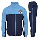 Manchester City FC Official Soccer Gift Mens Jacket & Pants Tracksuit Set LGE. Blue