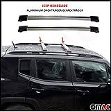 Barre portatutto in alluminio grigio per Jeep