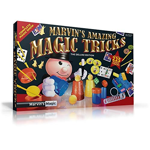 Marvin's Magic - Kids Magic Set - 225 Amazing Magic Tricks For Kids | Includes Mystical Magic Cards, Mind Reading Canisters, Magic Theatre, Magic Wand + More