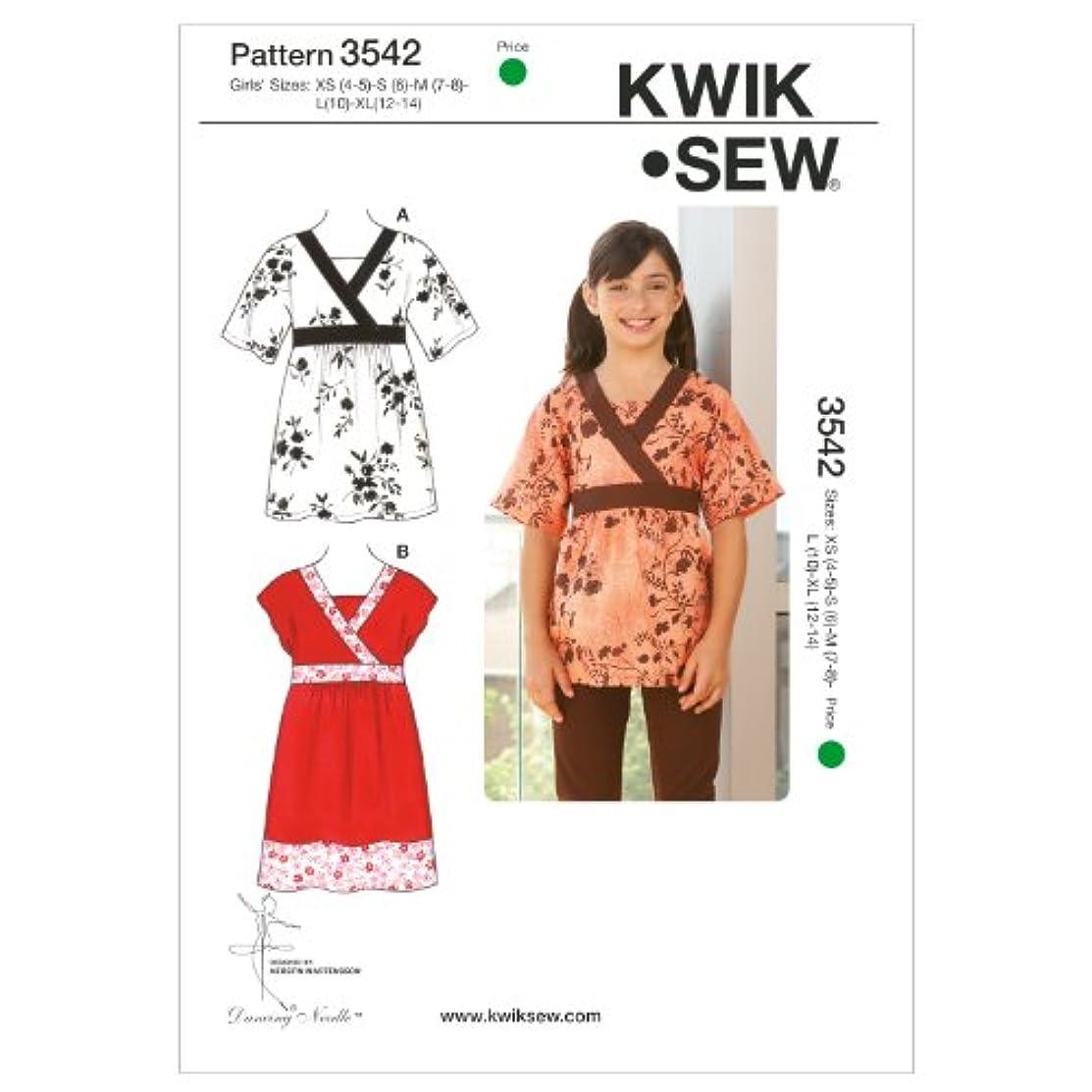 Kwik Sew K3542 Tunic and Dress Sewing Pattern, Size XS-S-M-L-XL