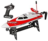 Top Race Remote Control Water Speed Boat, Perfect Rc Toy for Pools and Lakes | for Adults and Kids of All Ages | Loved by Boys and Girls rc Radio Controlled Boats 49Mhz (TR-800) (Red)