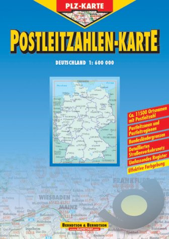 Postcode Germany Administration Map