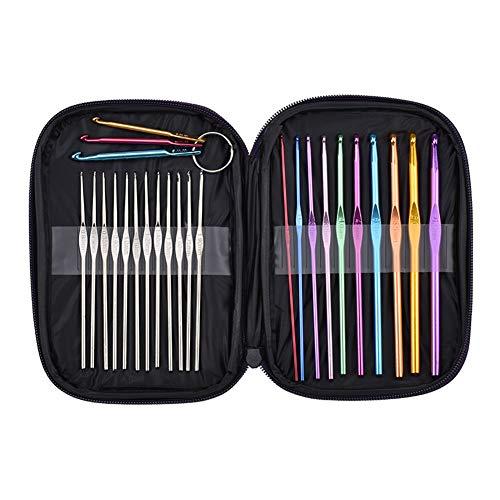 25 peças agulhas de costura de crochê de alumínio agulhas de tricô fio de artesanato