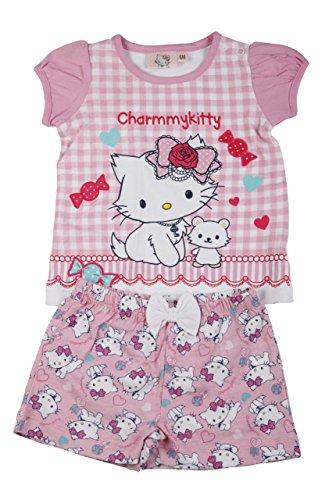 Charmy Kitty - Ensemble Deux pièces - Tee Shirt et Short - bébé Fille - Rose