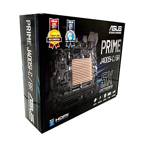 Placa-Mãe Asus P/Intel Celeron LGA 1151 J4005I-C/BR 2xDDR4 Mini ITX 90MB0Y90-C1BAY0