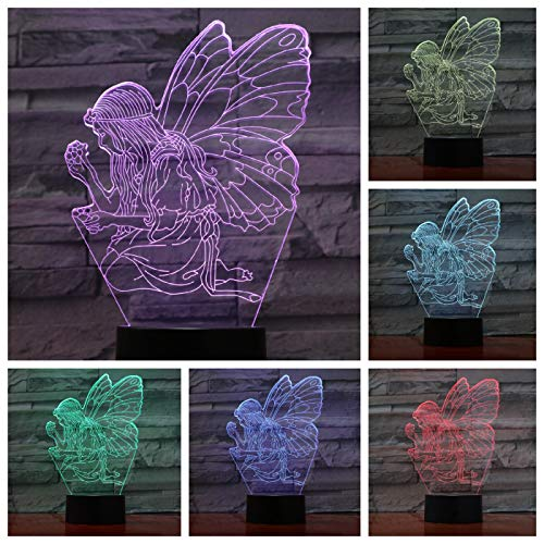 Interesting and Creative Color-Changing Stereo LED Fairy Tale Night Light Butterfly Birthday USB 3D Table lamp Gift Night Light | Small LED Table lamp, Smart Touch Light