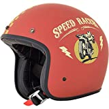 GZM Casco Jet AFX FX-76 Speed Racer rojo mate Flat Red homologado ECE DOT Moto Biker Vintage Talla M