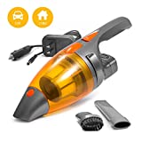 Cordless Car Vacuum Cleaner AC/DC for Home & Car Cleaning (110V & 12V) Portable Hand Held 100W High Power - by Kensun