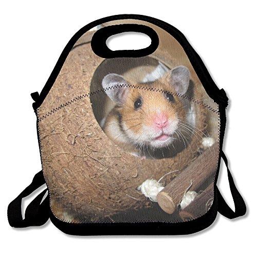 kkwodwcx Lovely hámster con aislamiento bolsa para el almuerzo Bolsas de picnic Gourmet bolsas de almuerzo reutilizables para trabajo de la escuela–mejor bolsa de viaje