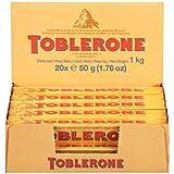Toblerone Swiss Milk Chocolate with Honey & Almond Nougat, 24 - 1.76 oz Bars