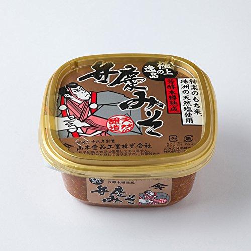 山木食品工業 石川県産こしひかりに神楽もち米 珠洲の天然塩を使用 極上弁慶みそ(芳醇木樽熟成)500g