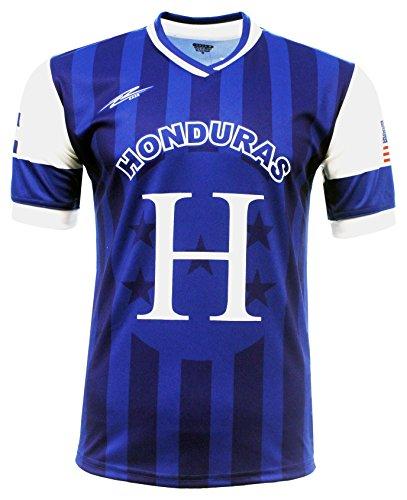 Camiseta de Manga Corta para Hombre, diseño de Arza de Honduras y Estados Unidos - Azul - X-Large