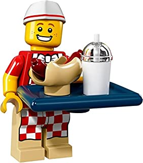 Hot Dog Vendor #6 of 16, LEGO Minifigures Series 17 Set 71018 (Sealed Retail Mystery Packaging!)