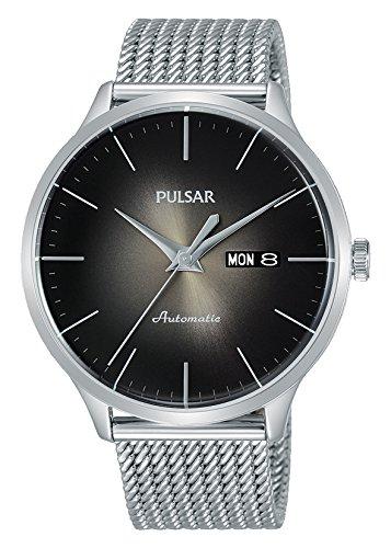 Pulsar Herren Analog Automatik Uhr mit Edelstahl Armband PL4033X1