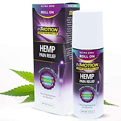 Inmotion Hemp Roll On for Pain - Premium Ultra Strength Fast Acting, Long Lasting, Odorless Hemp Oil Roll On Pain Reliever for Joint, Muscle, Back by Inmotion Hemp