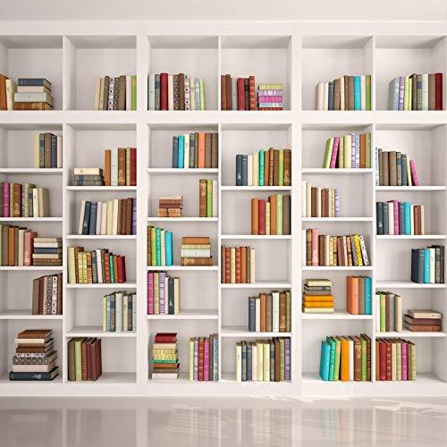 Estantería de Madera Antigua para Libros, Sala de Estudio de Vidrio, Fondos fotográficos Interiores para fotografía para Estudio fotográfico A6, 7x5ft / 2,1x1,5 m