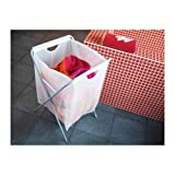 Ikea Laundry Bag w/ Stand 18 Gallon 26' H Holds 15lbs Foldable Clothes Storage Tote White Jall