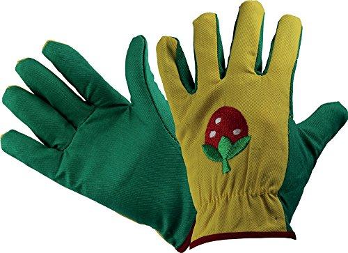 Land-Haus-Shop Kinder Arbeitshandschuhe Gartenhandschuhe Kinder Arbeits Garten Handschuhe gelb grün Erdbeere
