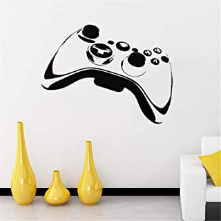 HU SHA Gamer Controller Wall Decal Removable Vinyl Wall Decals for Kids Children Boy Bedroom Playroom Nursery Walls Background Decoration (16.9 x 23.2 inches Size)