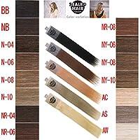 アートクライム 人毛100% エクステシール マテリアルG シールドヘア 20シート(40本分)50cm N08