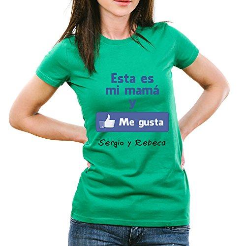Calledelregalo Regalo para Madres Personalizable: Camiseta Esta es mi mamá y me Gusta Personalizada con el Nombre o Nombres Que tú Quieras (Verde): Amazon.es: Ropa y accesorios