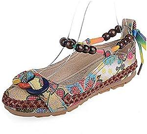 Hemp Flats Shoes Women Summer Slip On Ladies Ballet Flats Casual Women Vintage Ballerina Shoes