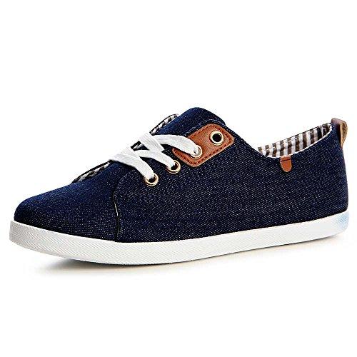 topschuhe24 1196 Damen Sneaker Turnschuhe Maritim Slipper, Größe:37 EU, Farbe:Dunkelblau