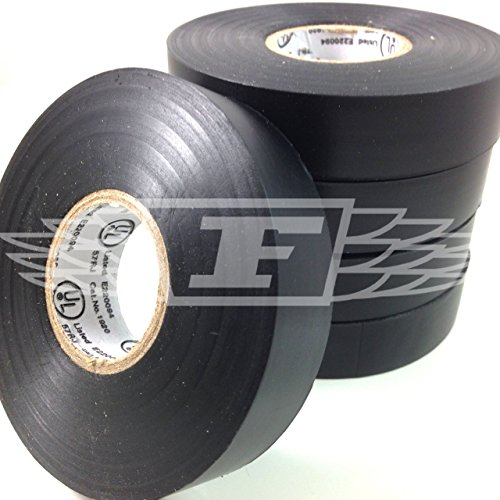 Ruban D'isolation PVC électrique 19mm x 20m Noir x 1 - noir, Noir, 1 pack, 1 pièce