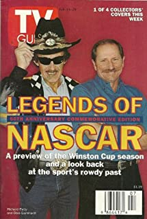 Legends of NASCAR, Richard Petty, Dale Earnhardt, 50th Anniversary Commemorative Edition, Jason Bateman, Gil Bellow, Jeremy London - February 14-20, 1998 TV Guide Magazine