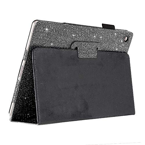 iPad 8th 10.2 2020 Case,FANSONG iPad 7th Generation Case 10.2, iPad Flip Leather Sparkle Glitter Cases with Pen Slot Stand [Auto Sleep/Wake up] Smart Cover for iPad 7/8 10.2-Inch 2019/2020 (Black)