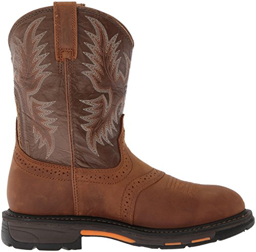 Ariat Men's Workhog Pull-on Waterproof Pro Work Boot, Aged Bark/Army Green, 10 M US