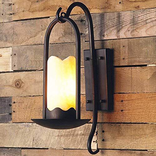 HYYK Clásico Rústico Impermeable Lámpara de Pared para Exteriores Tradicional Pasillo Jardín Balcón Porche Lámpara de Pared Aplique de Pared Linterna de mármol con Fuente de luz E27