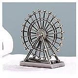 Estatua de decoración Moderno Ferris Wheel Sculpture Retro Decoración de la casa Sala de estar Metal creativo Decoraciones de hierro Decoración de la estatua para mesas de noche Gabinete de TV Estatua