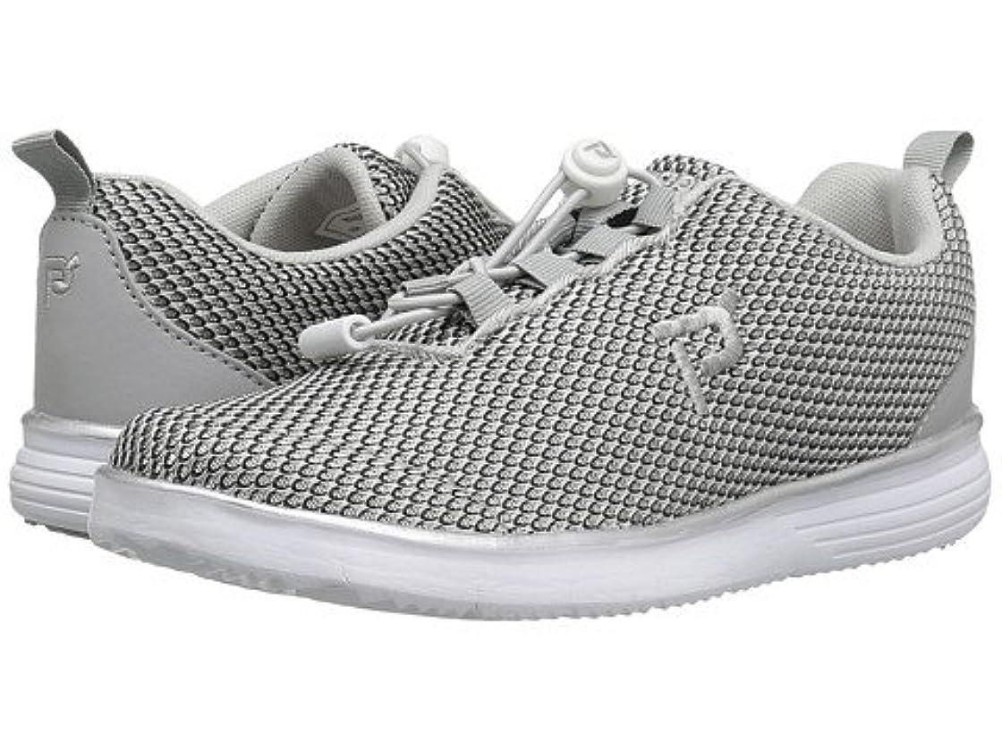 バラエティ宿受け皿(プロペット)Propet レディースウォーキングシューズ?カジュアルスニーカー?靴 TravelFit Prestige Silver/Black 7.5 24.5cm X (2E) [並行輸入品]