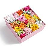 【Amazon限定ブランド】ソープフラワー 日本製 ギフト ボックス 母の日 誕生日 記念日 プレゼント お祝い お見舞い 贈り物 引っ越し祝い 結婚祝い home cocci 窓付きスクエア型 Lサイズ ピンク
