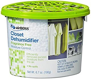 airBOSS Closet Dehumidifier, For Storage Closets and Small Spaces, Fights Mildew and Odors