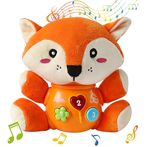 FWZXBK Toys for 1-7 Year Old Boys Girls Toddlers Infant Kids,Plush Musical Toys Comfort Toys for 3-36 Months Old Baby for 1-7 Year Old Boys Girls