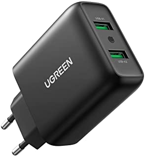 UGREEN USB Oplader 36W QC 3.0 USB Snellader Charger 2 Poorts Oplader voor iPhone 13 13 Mini 13 Pro 13 Pro Max Galaxy S21 U...