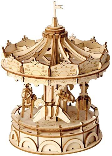 Robotime 立体パズル 木製 DIY クラフト 子供 プレゼント 玩具 (メリーゴーランド)